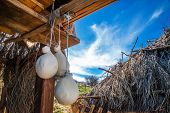 stock photo of naturel  - Photo of a typical Sicilian farmhouse cheese - JPG