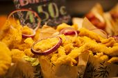 picture of stall  - Burrito stall in a indoors market - JPG