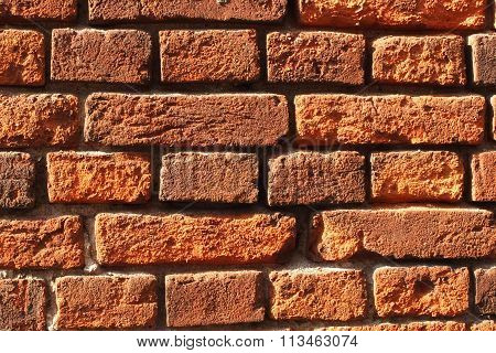 The Red Bricks Wall Of Bricks Poster ID 113463074