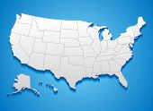 United States of America Map poster