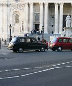 stock photo of hackney  - traditional London taxi - JPG