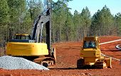picture of road construction  - photographed road construction site in northern georgia area - JPG