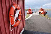 Life Buoy Against Saving Yachts