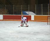 foto of winter sport  - hockey players on the ice winter sports - JPG