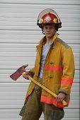 Jr Fireman In Gear