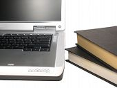 Laptop And Books poster