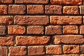 The red bricks. Wall of bricks. poster