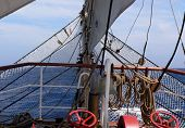 Bowsprit W Sails And Rigging