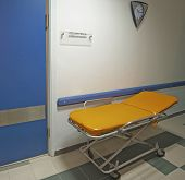 Medical Trolley Outside An Operating Room