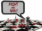 Постер, плакат: Chess battle Fight and win