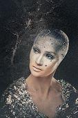 Girl Astronomer. Universe. Makeup. poster