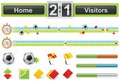 image of offside  - Set of soccer related design elements and icons for game review infographic - JPG