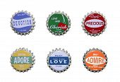 Emotion Themed Bottle Caps
