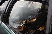 Auto interior fire.