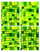 Green Squares Patterns