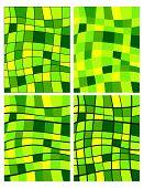 Green Squares Patterns