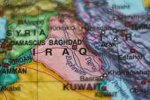 Постер, плакат: Iraq Country On Map