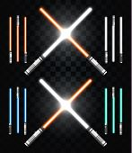 Постер, плакат: Light swords Star war Laser weapons laser sword neon sword