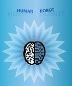 Menschliche Roboter Gehirn