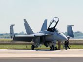 Us Navy F/a-18 Prepares For Flight