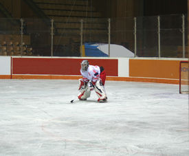 picture of winter sport  - hockey players on the ice winter sports - JPG