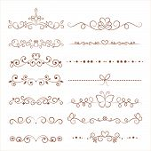 Hand Drawn Vector Ornaments For Invitation, Congratulation And Greeting Card. poster