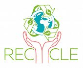 Banner About Recycle Hands poster