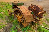 Hdr Vintage Farm Tractor