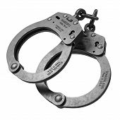 Handcuffs Isolated On White Background 3D poster
