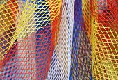 Background Of A Net Of A Toy Fishing Net poster