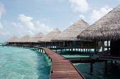 Water Villas In The Ocean. Maldives.