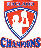 Netball Shooter Champions England Shield