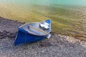 Canoe along the shore