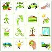 Go Green Concept Icons
