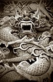 Typical auspicious dragon status in chinese temple that brings good luck.