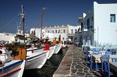 Paros Island, Greece - Boats At Old Harbor