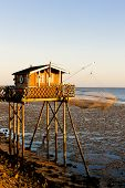 fishing house with fishing net, Gironde Department, Aquitaine, France