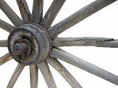 Old Wagon Wheel-Isolated