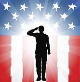 Soldado patriótico Salute