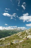 picture of engadine  - Alpine landscape in the valley of Engadine - JPG
