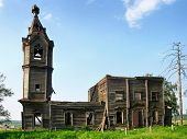 Destroyed church