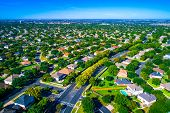Hundreds Of Homes Line The Curved Modern Roads Of The New Suburb North Of Austin In Round Rock , Tex poster