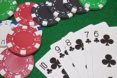 Club Flush Poker Hand