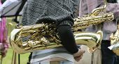 The Musician With A Baritone Saxophone