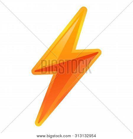 poster of Vibrant Lightning Bolt Icon. Cartoon Of Vibrant Lightning Bolt Icon For Web Design Isolated On White