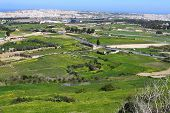 Landscape Countryside Scenery In Gozo, Malta, Mediterranean Sea