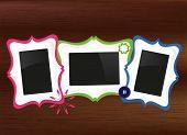 Scrapbook photo frames