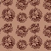 Abstract Seamless Background With Brown Elements