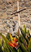 Father Serra Statue Mission San Juan Capistrano Church Ruins California