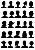 foto of silhouette  - 25 Anonymous Mugshots - JPG